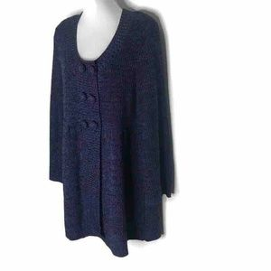 NEW Style & Co Cardigan Sweater Blue Marled XL